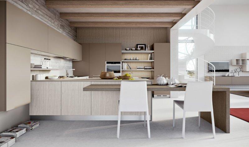 Piastrelle cucina moderne beige