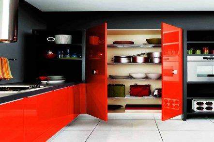 Красно-черная кухня 2
