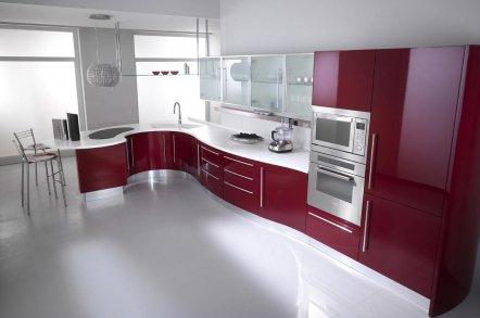 Красно-белая кухня 2